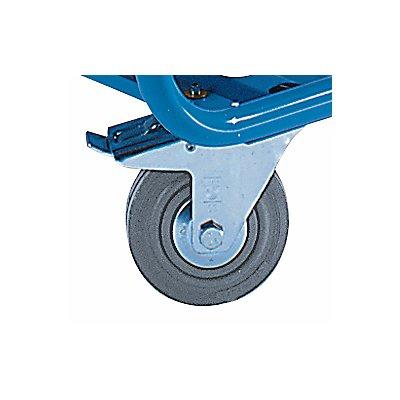 EUROKRAFT Kommissionierwagen - mittlere Etagen schrägstellbar, mit Vollgummibereifung