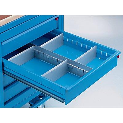 Schubladeneinteilungs-Set - 1 Längs-, 4 Querteiler - für 4 Schubladen