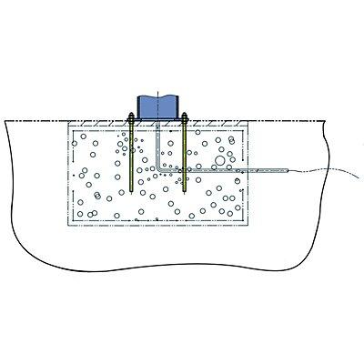 Ankerschraube mit Fundamentschablonen - für Fundament 1650 x 1650 mm, 1800 x 1800 mm - für Tragfähigkeit 500 kg, 1000 kg