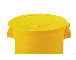Kunststoffdeckel - mit Schnappverschluss, stapelbar - für 208-l Tonne, grau