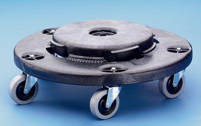 Fahrgestell für Rundtonne - Bajonett-Verschluss - 5 Lenkrollen