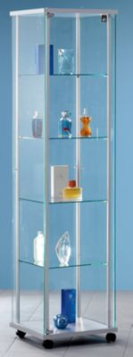 Präsentations-Vitrine - mit Glas-Drehtür