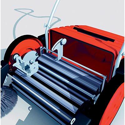 Kehrmaschine mit Tandem-Walzen-System - manuell, Behälterinhalt 50 Liter - Behälterinhalt 50 l