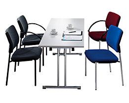 Konferenztisch klappbar - Doppel-T-Stahlrohrgestell mit geraden Kufen