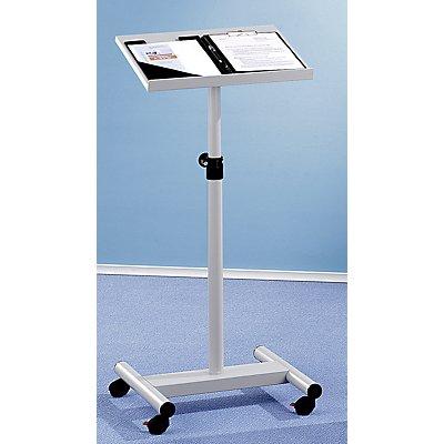 Stehpult, höhenverstellbar - mobil, lichtgrau - Fußteil BxT 490 x 500 mm