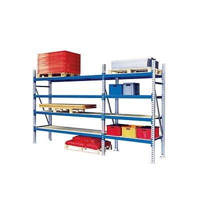 Weitspann-Großfachregal - Feldlast max. 4000 kg, HxBxT 2500 x 1350 x 1100 mm