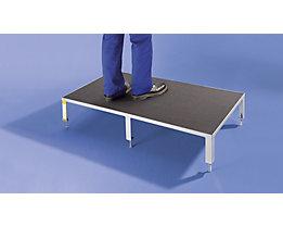 Arbeitsplattform - mit Siebdruckplatte, Höhenverstellbereich 230 – 300 mm