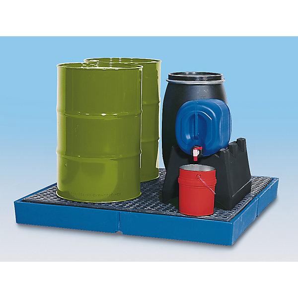 Image of Asecos Kunststoff-Flachwanne - mit PE-Gitterrost Auffangvolumen 125 Liter
