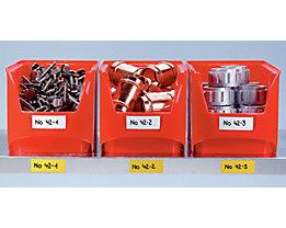 Magnet-Lagerschilder - weiß, Rollenware - Höhe 20 mm, Rollenlänge 10 m