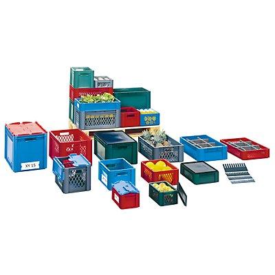 Schwerlast-Euro-Behälter, Polypropylen - Inhalt 50 l, LxBxH 600 x 400 x 270 mm, Wände durchbrochen