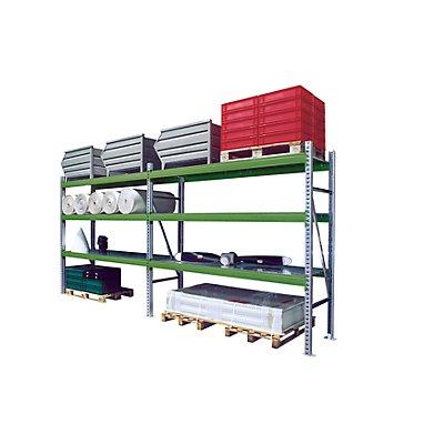 Schwerlastregalsystem - Kombination, BxTxH 5610 x 800 x 2500 mm - Fachlast 1500 kg