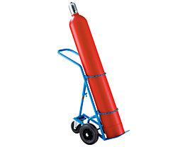 EUROKRAFT Stahl- / Gasflaschenkarre - für 1 Stahlflasche bis Ø 285 mm, mit Stützrad