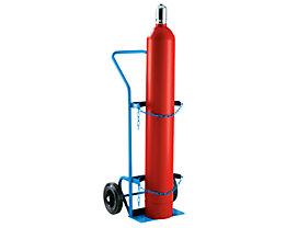 EUROKRAFT Stahl- / Gasflaschenkarre - für 1 Stahlflasche bis Ø 380 mm