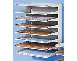 Sortierablage - 8 Fächer - Höhe 470 mm, VE 2 Stk