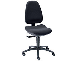 Dauphin Chaise pivotante ergonomique à mécanisme synchrone réglable en fonction de la pression exercée - sans accoudoirs, dossier hauteur 560 mm