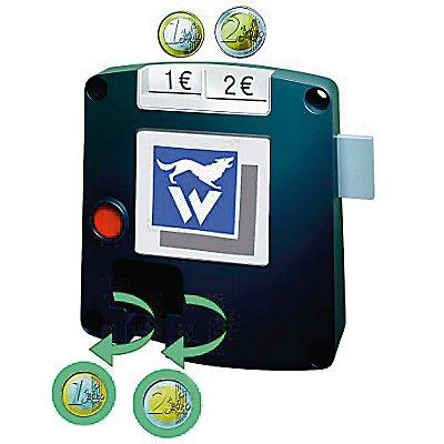 Wolf Pfandschloss SAFE-O-MAT - 2-Münz-Einwurf, Promax-Sicherheitszylinder - je Schloss 1 Benutzerschlüssel, Mehrpreis