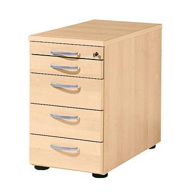 BASIC-II Standcontainer - mit 1 Utensilienschub und 4 Materialschüben