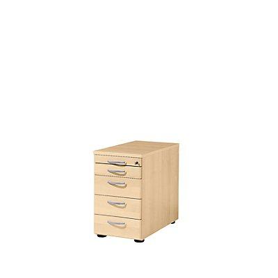 Wellemöbel BASIC-II Standcontainer - mit 1 Utensilienschub und 4 Materialschüben