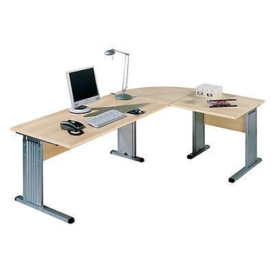 Wellemöbel BASIC-II Verkettung - für Schreibtisch mit Wangen und C-Fuß-Gestell