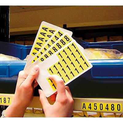 Schriftzeichenset - HxB 12,5 x 8,5 mm, 10 Karten