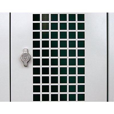 Wolf Tür für Stahlschrank - Quadratlochung - Mehrpreis
