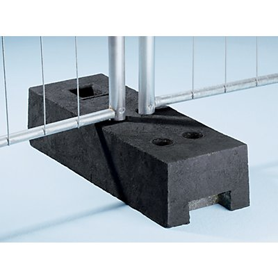 Zaunfuß aus Kunststoff - für Mobilzaun - LxBxH 690 x 250 x 140 mm.