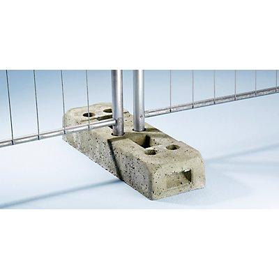 Schake Zaunfuß aus Beton - für Mobilzaun - Länge x Breite x Höhe 625 x 220 x 110 mm