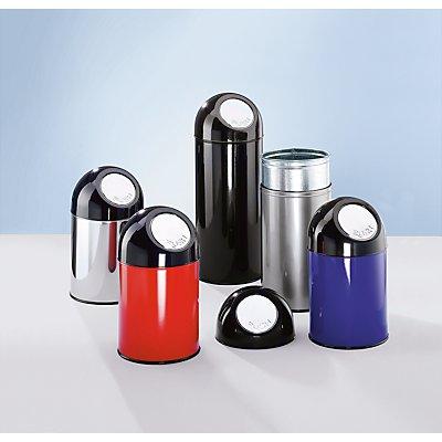 Collecteur de déchets PUSH - inox, capacité 55 l, seau intérieur galvanisé - inoxydable