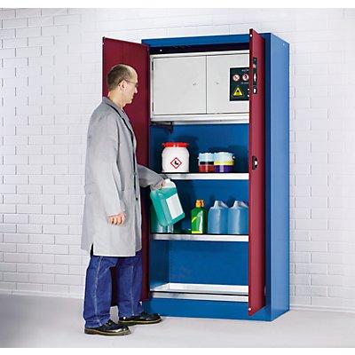 Umweltschrank - mit Sicherheitsbox - 2 Wannenböden, 1 Bodenauffangwanne