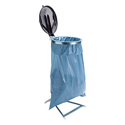Support sacs-poubelle pour sac de 120 l - support fixe à pédale