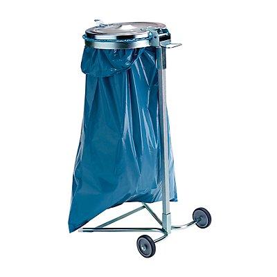 Abfallsackhalter für 120-l-Sack - 2-Rad-Fahrgestell