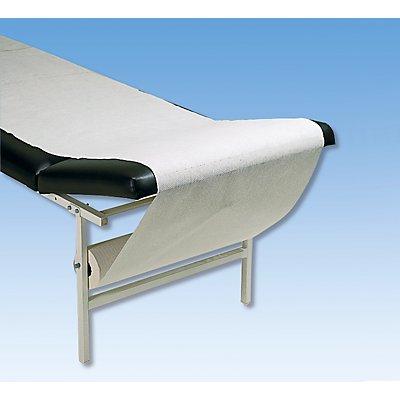 Ärztekrepp - weiß, mit Abreißperforation - Rolle 50 m lang, 550 mm breit, VE 3 Rollen