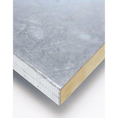 Stahlblechbelag - Mehrpreis, optional für Werkbank - für Werkbankbreite 2500 mm