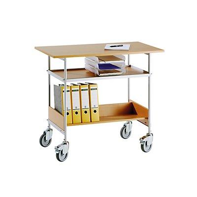 Tischwagen - Tragfähigkeit 150 kg - Arbeitsfläche 1000 x 550 mm