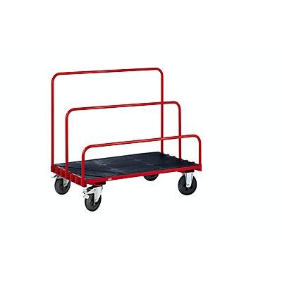 EUROKRAFT Platten-Transportwagen ohne Bügel - Ladefläche 1250 x 800 mm