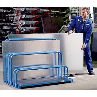 EUROKRAFT Plattenständer ohne Bügel - mit vorgebauter Einschubrolle