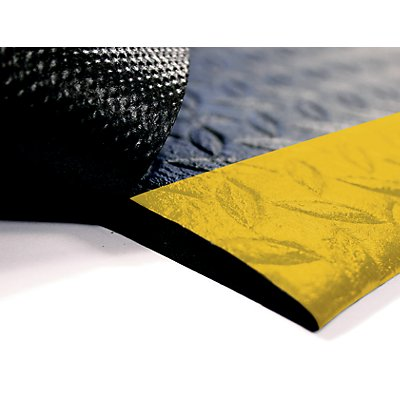 Anti-Ermüdungsmatte aus geschäumten PVC - Breite 1200 mm - schwarz, pro lfd. m