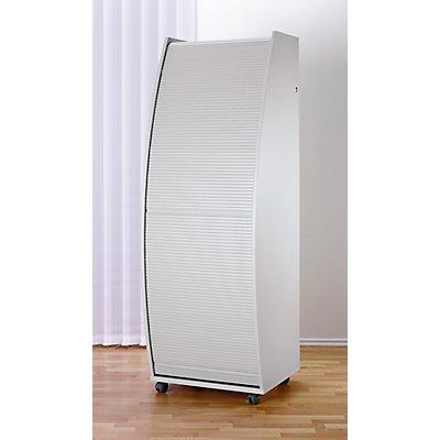 OFFICE AKKTIV Computerschrank mit Kunststoffrollladen, mobil - Basic Variante, HxBxT 1785 x 600 x 630 mm - 2 Fachböden BxT 560 x 300 mm