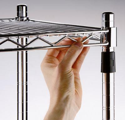 Stahldraht-Gitterregal, verchromt - Fachlast 150 kg, BxT 910 x 360 mm