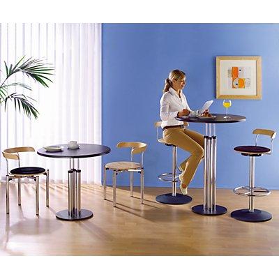 Bistro-Tisch - Tischplatte aus Werzalit, Ø 800 mm