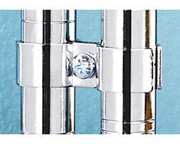 Pfosten-Verbindungsklammer - für Stahldraht-Gitterregal - VE 4 Stk