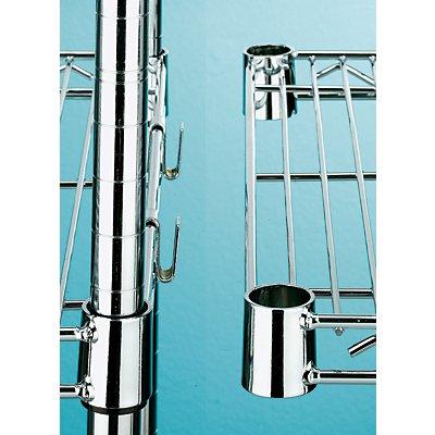 Stahldraht-Gitterregal, verchromt - Fachlast 150 kg, BxT 910 x 610 mm