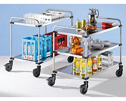 Edelstahl-Tischwagen VARITHEK SERVO+ - LxBxH 1070 x 670 x 950 mm, Ladefläche 1000 x 600 mm