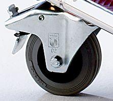 EUROKRAFT Plattform-Magazinwagen - in Quintett-Struktur - Ladefläche Aluminium