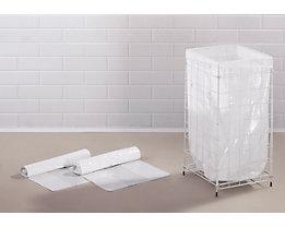 Sacs-poubelle - capacité 65 l - l x p x h 365 x 245 x 850 mm, PE basse densité, blanc, lot de 360