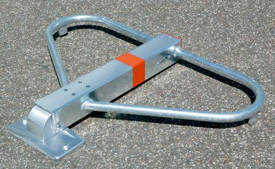 Parkbügel, kippbar - Höhe über Flur 500 mm, gleichschließend