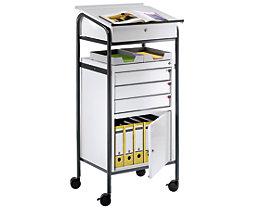 EUROKRAFT Pupitre d'atelier - 1 armoire, 3 tiroirs