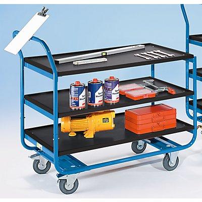 EUROKRAFT Tischwagen, Tragfähigkeit 150 kg - 3 Etagen, MDF-Platte, LxB 1000 x 570 mm