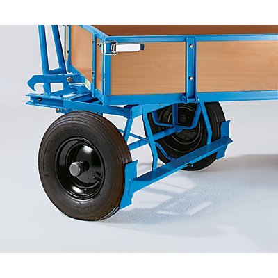 EUROKRAFT Handpritschenwagen - Tragfähigkeit 500 kg, mit 4 Bordwänden - Ladefläche 1010 x 660 mm, Vollgummireifen