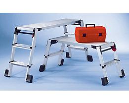 Plate-forme de travail en aluminium - repliable, avec verrouillage de sécurité